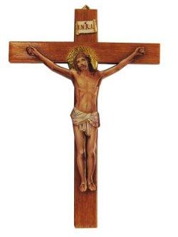 画像1: イタリア直輸入 プラスチック製壁掛け十字架ミニ