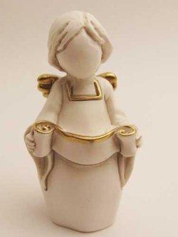 画像1: レジン製置物 巻物を持つ天使