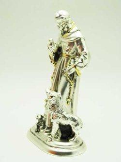 画像2: レジン製聖フランシスコ像(銀メッキ加工)