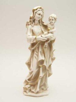 画像1: レジン製聖母子像(アイボリー)