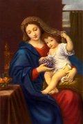 フィデスポストカード 葡萄の聖母子 (5枚組)