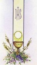 シンボル典礼金箔押し御絵 初聖体1(10枚セット)