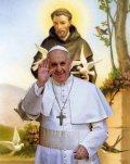 教皇フランシスコのご絵 B (25cm×20cm) ※返品不可商品