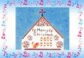 クリスマスカード 二つ折り 聖歌隊 ※返品不可商品