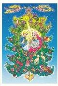 ★在庫限り★クリスマスカード 二つ折り 夜空  ※返品不可商品