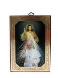 イタリア直輸入デコパージュ板絵(教皇フランシスコといつくしみのイエス)