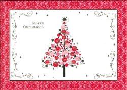 画像1: クリスマスカード(ツリー・レッド) ※返品不可商品