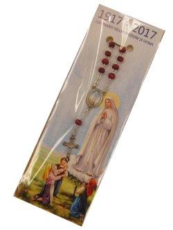 画像1: イタリア直輸入 ファティマの聖母の一連ロザリオ(薔薇の香り付)