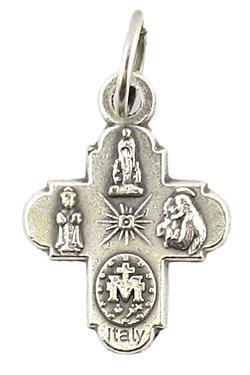 画像2: イタリア直輸入 聖霊と聖人たちのメダイ十字架 ※返品不可商品