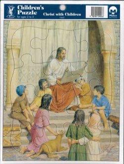 画像1: 聖画ジグソーパズル(Christ with Children )