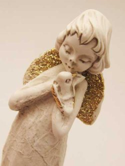 画像4: レジン製置物 鳩に語りかける天使
