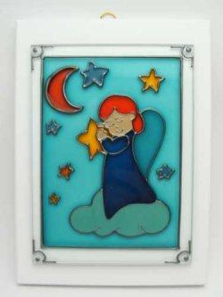 画像1: ガラス製 天使の壁掛け