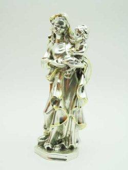 画像4: レジン製聖母子(銀メッキ加工)