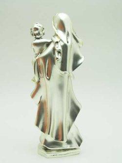 画像3: レジン製聖母子(銀メッキ加工)