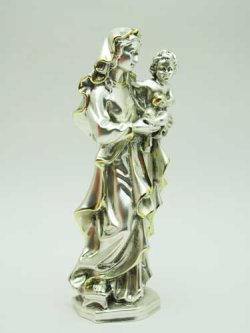 画像2: レジン製聖母子(銀メッキ加工)