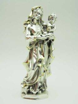 画像1: レジン製聖母子(銀メッキ加工)