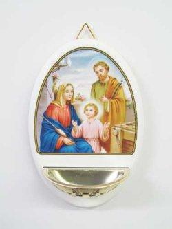 画像1: 木製聖水入れ聖家族