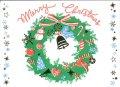 二つ折りクリスマスカード  聖句入り 活版印刷・箔加工 ※返品不可商品