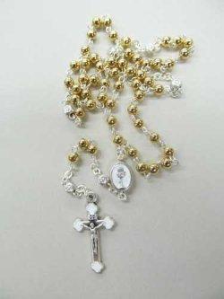 画像2: イタリア製 ケース付聖体のロザリオ(ゴールド)  ※返品不可商品