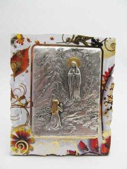 画像1: イタリア直輸入ルルドの聖母とベルナデッタの卓上飾り