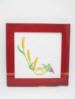 画像1: 典礼聖具 刺繍リンネル4点セット KKL/061