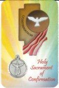 メダイ付き堅信カード(Holy Sacrament of Confirmation) ※返品不可商品