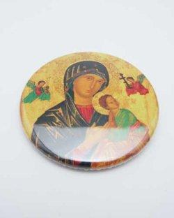 画像1: 絶えざる御助けの聖母缶バッチ ※返品不可商品