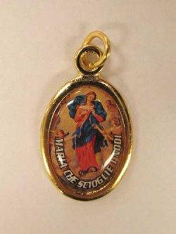 画像2: イタリア直輸入 教皇フランシスコと結び目を解くマリアの両面メダイ ※返品不可商品