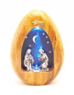 画像2: オリーブ製卓上飾り・LEDライト付(ご降誕)