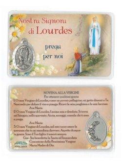 画像1: 花柄メダイカード(ルルドの聖母)