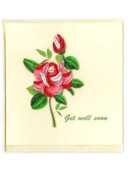 画像1: クイリング・カード Get well soon ※返品不可商品