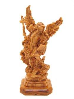 画像1: イタリア製木彫り像(大天使聖ミカエル)