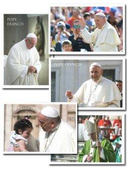 画像1: 教皇フランシスコ ポストカード 5種類 セット※返品不可商品