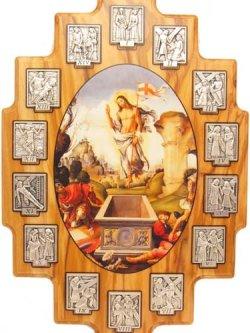 画像2: オリーブ製十字架の道行壁掛け ※返品不可商品