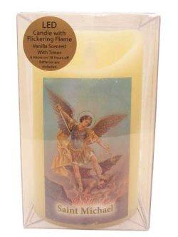 画像1: LED REAL CANDLE with Vanilla Wax(St.Michael)