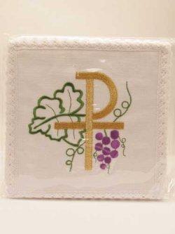 画像1: 典礼聖具 刺繍リンネル4点セット (1)
