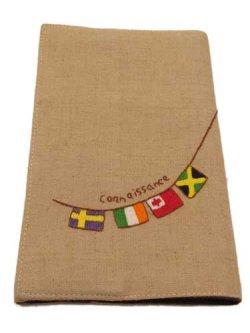 画像1: ハンドメイド新書用ブックカバー 国旗