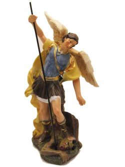 画像1: 聖像 再生木材製大天使聖ミカエル像(St.Michael Archangel)