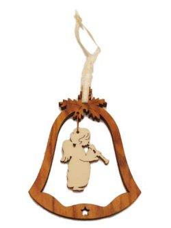 画像2: オリーブ製デコレーションオーナメント(Bell/笛天使)
