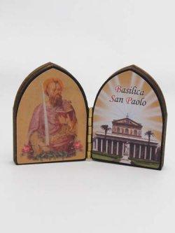 画像1: 木製二面つい立(聖パウロ)