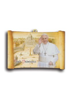 画像1: 壁掛け板絵(教皇フランシスコ) ※返品不可商品