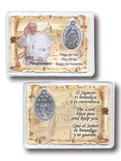 画像1: 不思議のメダイカード(教皇フランシスコ) ※返品不可商品