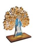 生命の木と聖母マリアの木製卓上飾り