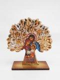 生命の木と聖家族の木製卓上飾り