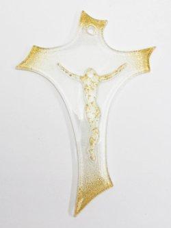 画像1: ガラス製壁掛け十字架(小)