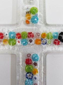 画像2: ムラノガラス製壁掛け十字架(小)