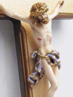 画像3: 木製壁掛け十字架(像付・青)