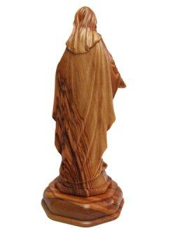 画像3: オリーブ製木彫り像(無原罪の聖母)約17cm