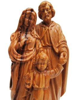 画像3: オリーブ製木彫り像(聖家族)約18cm