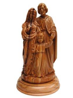 画像4: オリーブ製木彫り像(聖家族)約18cm